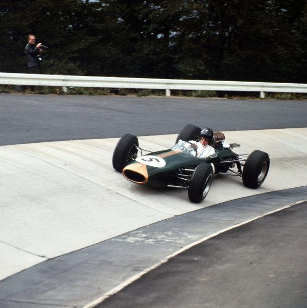 Nurburgring, Germany.30/7-1/8 1965.Dan Gurney (Brabham BT11Climax) 3rd position.Ref-3/1807.World Copyright - LAT Photographic