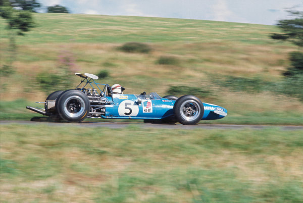 1968 International Gold Cup.  Oulton Park, England. 17th August 1968.  Jackie Stewart, Matra MS10 Ford, 1st position.  Ref: 68GC02. World Copyright: LAT Photographic