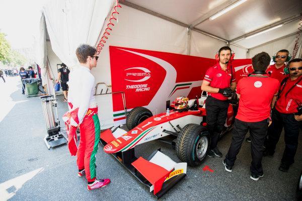 2017 FIA Formula 2 Round 4. Baku City Circuit, Baku, Azerbaijan. Friday 23 June 2017. Charles Leclerc (MCO, PREMA Racing)  Photo: Zak Mauger/FIA Formula 2. ref: Digital Image _54I9323