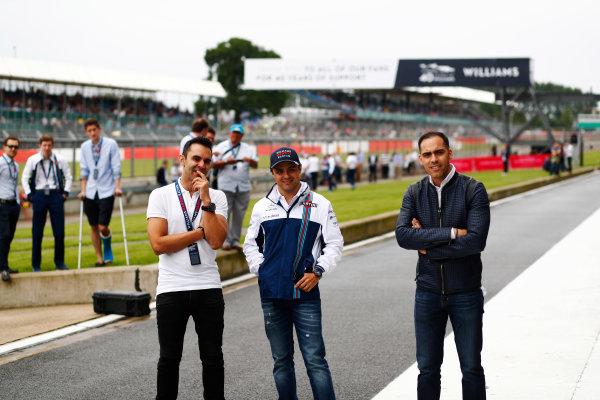 Williams 40 Event Silverstone, Northants, UK Friday 2 June 2017. Antonio Pizzonia, Felipe Massa and Pastor Maldonado. World Copyright: Sam Bloxham/LAT Images ref: Digital Image _J6I7039