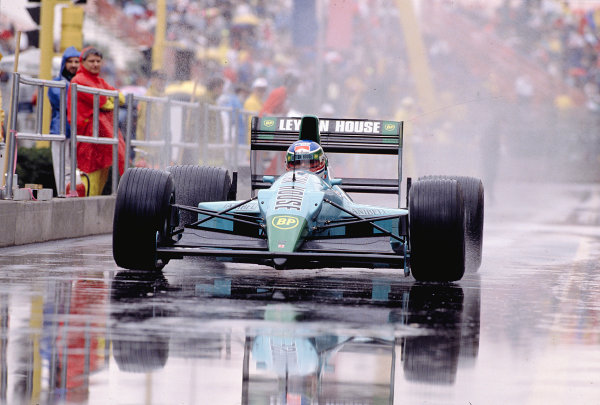1989 United States Grand Prix.Phoenix, Arizona, USA.2-4 June 1989.Ivan Capelli (March CG891 Judd).Ref-89 USA 37.World Copyright - LAT Photographic