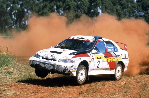 1998 World Rally Championship.Safari Rally, Kenya. 28 February-2 March 1998.Richard Burns/Robert Reid (Mitsubishi Carisma GT Evo4), 1st position.World Copyright: LAT PhotographicRef: 35mm transparency 98RALLY02