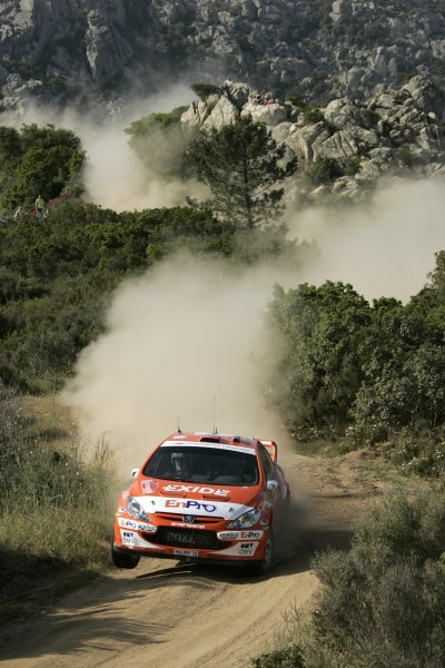 2006 FIA World Rally Championship.Round 7. 18th - 21st May 2006.Rally of Italy, Sardinia.Henning Solberg, Peugeot 307 WRC, action.World Copyright: McKlein/LAT