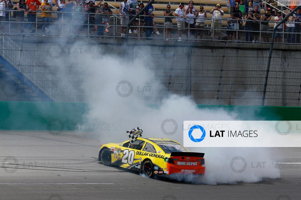 27-29 June, 2013, Sparta, Kentucky, USA Winner Matt Kenseth Burnout © 2013, Michael L. Levitt LAT Photo USA