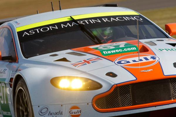 2013 FIA WEC Championship, Silverstone, Northamptonshire. 12th - 14th April 2013. Darren Turner / Stefan Mucke / Bruno Senna Aston Martin Racing Aston Martin Vantage V8. World Copyright: Ebrey / LAT Photographic.