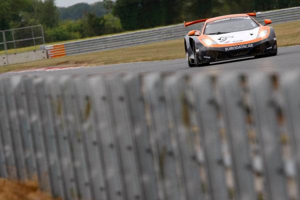 2013 British GT Championship, Snetterton, Norfolk. 15th - 16th June 2013. George Demoustier / Duncan Tappy Von Ryan Racing McLaren MP4 12C. World Copyright: Ebrey/LAT Photographic.