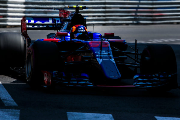 Monte Carlo, Monaco. Saturday 27 May 2017. Carlos Sainz Jr, Toro Rosso STR12 Renault. World Copyright: Charles Coates/LAT Images ref: Digital Image AN7T7514