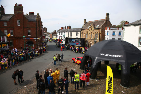 2017 Prestone MSA British Rally Championship,  Pirelli International Rally, Carlisle. 29th - 30th April 2017. BRC finish in Brampton. World Copyright: JEP / LAT Images.