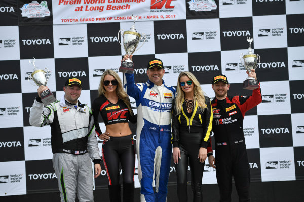 2017 Pirelli World Challenge Toyota Grand Prix of Long Beach Streets of Long Beach, CA USA Sunday 9 April 2017 John Potter, James Sofronas, Michael Schein World Copyright: Richard Dole/LAT Images ref: Digital Image RD_LB17_481