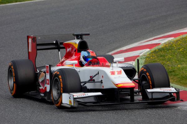 Circuit de Barcelona Catalunya, Barcelona, Spain. Monday 13 March 2017. Ralph Boschung (SUI, Campos Racing). Action.  Photo: Alastair Staley/FIA Formula 2 ref: Digital Image 585A6900