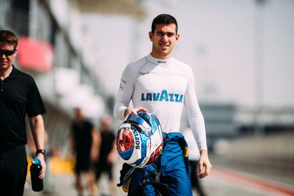 Bahrain International Circuit, Sakhir, Bahrain. Wednesday 29 March 2017 Nicholas Latifi (CAN) DAMS  Photo: Malcolm Griffiths/FIA Formpula 2 ref: Digital Image MALC4571 2