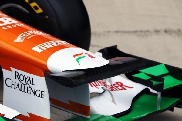 Force India VJM05 nose detail. Sahara Force India VJM05 Unveil, Silverstone, England, Friday 3 February 2012.
