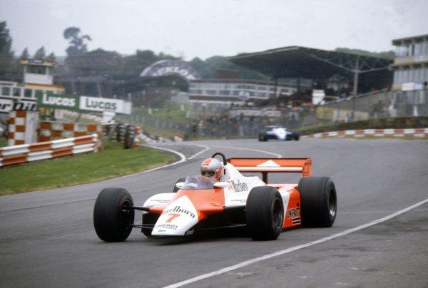 1982 British Grand Prix.Brands Hatch, Great Britain. 18 July 1982.John Watson, McLaren MP4/1B-Ford, retired, action.World Copyright: LAT PhotographicRef: 35mm transparency 82GBR