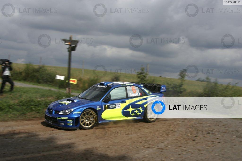 2006 FIA World Rally Champs. Round elevenDeutschland Rally.9th- 13th August 2006.Stephane Sarrazin, Subaru, action.World Copyright: McKlein/LAT