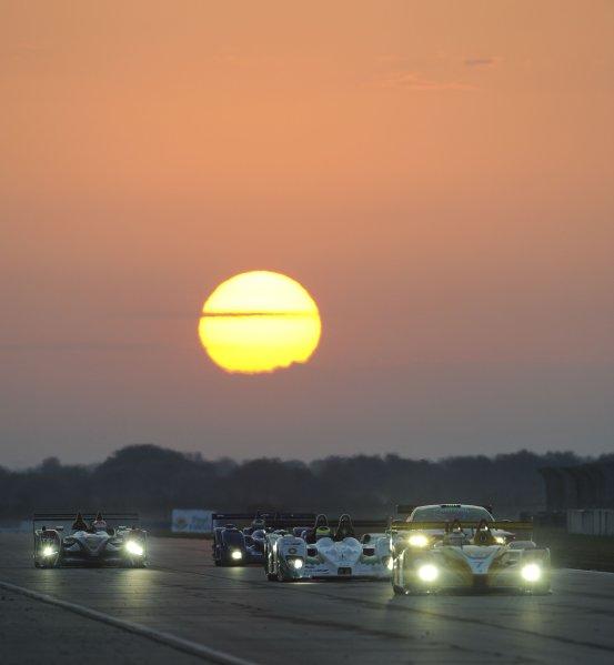 10-15 March, 2008, Sebring, Florida, USA Penske Porsche RS Spyder Timo Bernhard, Emmanuel Collard, and Romain Dumas. ©2008, Richard Dole, USA LAT Photographic