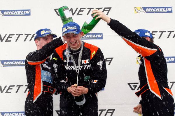 2014 Ginetta GT4 Supercup, Silverstone, England. 27th-28th September 2014. Double race winner David Pittard (GBR) SV Racing. World Copyright: Ebrey / LAT Photographic.