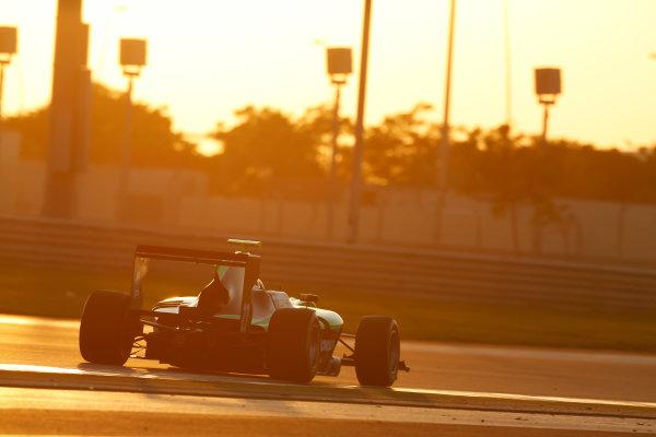 2014 GP3 Series Test 3.   Yas Marina Circuit, Abu Dhabi, United Arab Emirates. Saturday 29 November 2014.Steijn Schothrost (NED, Status Grand Prix)  Photo: Sam Bloxham/GP3 Series Media Service. ref: Digital Image _14P2967