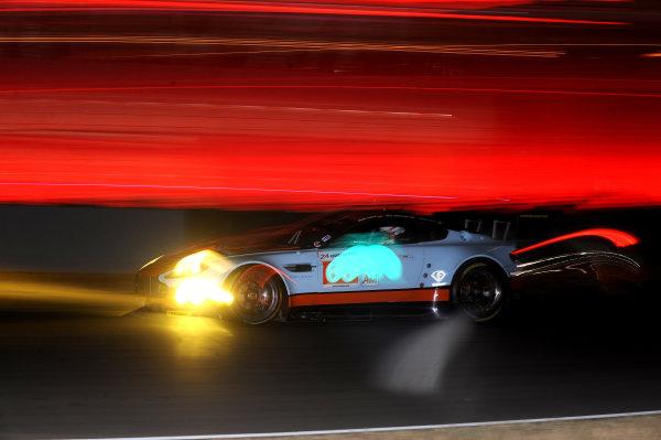 Circuit de La Sarthe, Le Mans, France. 5th - 12th June 2011. Fabien Giroix/Michael Wainwright/Roald Goethe, Gulf AMR Middle East, No 60 Aston Martin Vantage. Action. Photo: Jeff Bloxham/LAT Photographic. ref: Digital Image DSC_4778