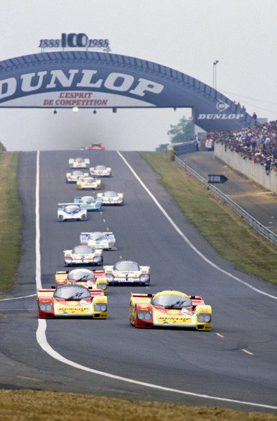 Le Mans, France. 11th - 12th June 1988 The start of the race, action. World Copyright: LAT Photographic ref: 88LM11
