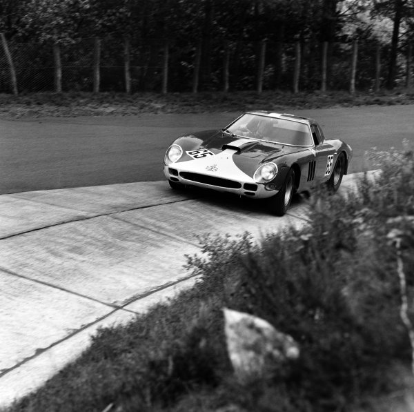 Nurburgring, Germany. 23rd May 1965. Rd 9.Mike Salmon/Chris Kerrison (Ferrari 250 GTO 64), retired, action. World Copyright: LAT Photographic.Ref:  29347.