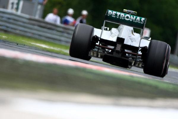 Hungaroring, Budapest, Hungary29th July 2011Nico Rosberg, Mercedes GP W02. Action. World Copyright: Andy Hone/LAT Photographicref: Digital Image CSP20084