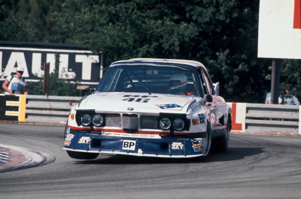 Le Mans, France. 12th - 13th June 1976 Peter Brock/Brian Muir/Jean-Claude Aubriet (BMW 3 0 CSL), retired, action. World Copyright: LAT Photographic Ref: 76LM