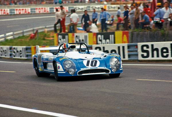 Le Mans, France. 9-10 June 1973 Jean-Pierre Beltoise/Franois Cevert (Matra-Simca MS670B), retired,  action. World Copyright: LAT PhotographicRef: 73LM07.