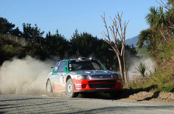 2002 World Rally Championship.Propecia Rally of New Zealand, Auckland, October 3rd-6th.Juha Kankkunen on stage 20.Photo: Ralph Hardwick/LAT