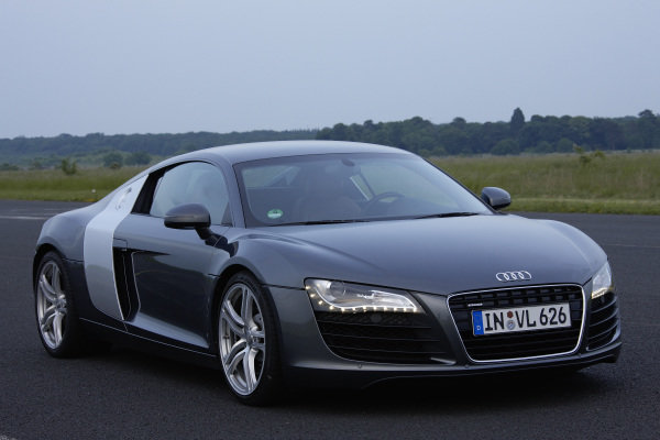 Audi R8, 2008. Mainz-Finthen, Germany.