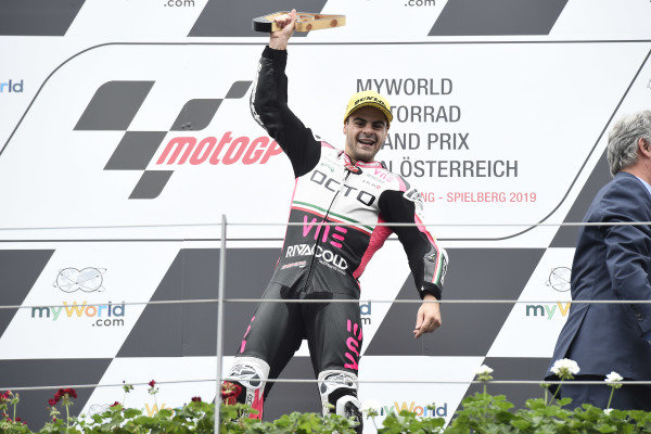 Podium: race winner Romano Fenati, Team O