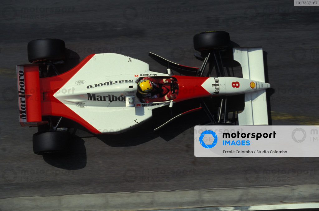 Ayrton Senna, McLaren MP4-8 Ford.