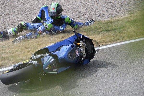 Enea Bastianini, Italtrans Racing Team crash.