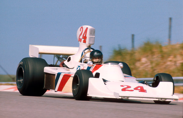 1975 Dutch Grand Prix.Zandvoort, Holland. 20-22 June 1975.James Hunt (Hesketh 308 Ford) 1st position. This was his and the team's maiden Grand Prix win. It was also Hesketh's only Grand Prix victory. Ref-75 HOL 04.World Copyright - LAT Photographic