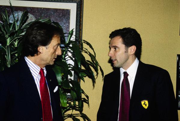 Luca di Montezemolo and Stefano Domenicali.