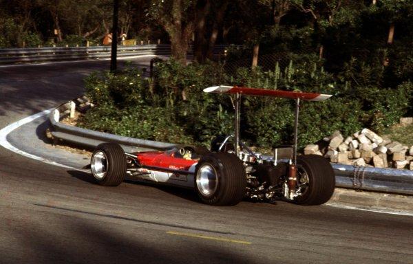 1969 Spanish Grand Prix.Monjuich Park, Barcelona, Spain.2-4 May 1969.Jochen Rindt (Lotus 49B Ford).Ref-69 ESP 01.World Copyright - LAT Photographic
