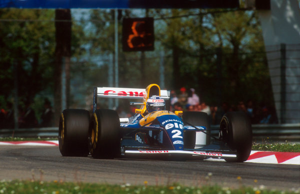 1993 San Marino Grand Prix.Imola, Italy.23-25 April 1993.Alain Prost (Williams FW15C Renault) 1st position.Ref-93 SM 08.World Copyright - LAT Photographic