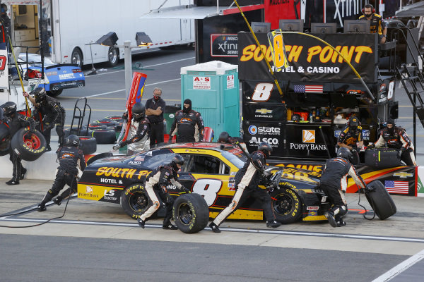 Daniel Hemric, JR Motorsports Chevrolet South Point Hotel & Casino, pits, Copyright: Kevin C. Cox/Getty Images.