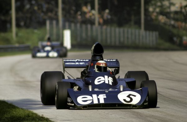 Jackie Stewart (GBR) Tyrrell 006/2 overcame illness and an early puncture to climb through the field and finish fourth, ensuring himself his third World Championship title as a result. Italian Grand Prix, Monza, 9 September 1973. BEST IMAGE
