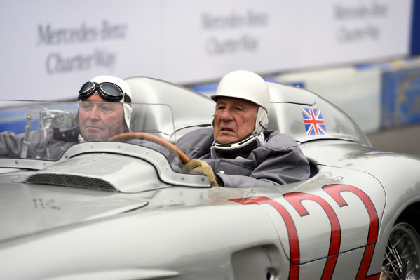 Sir Stirling Moss (GBR) and Jochen Mass (GER).