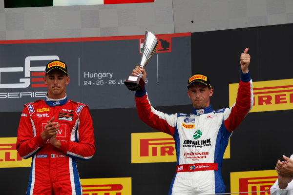 2015 GP3 Series Round 4.  Hungaroring, Budapest, Hungary. Sunday 26 July 2015. Jimmy Eriksson (SWE, Koiranen GP)  World Copyright: Sam Bloxham/LAT Photographic. ref: Digital Image _G7C3479
