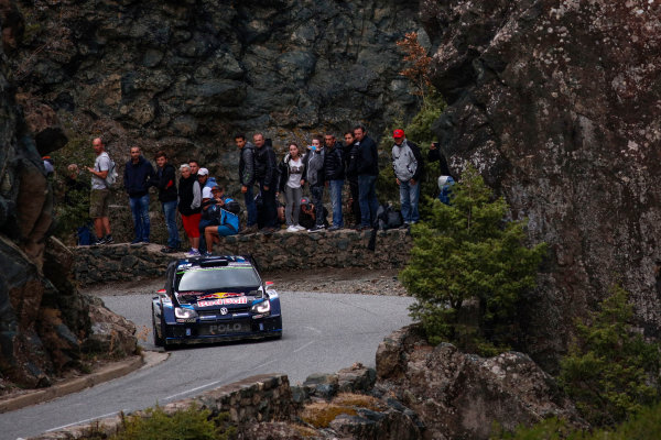 2015 World Rally Championship Round 11, Tour de Corse  1st - 4th October, 2015 Jari-Matti Latvala, VW, action  Worldwide Copyright: McKlein/LAT
