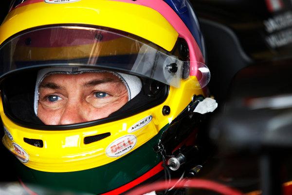 FIA Formula E Test Day, Donington Park, UK.  10th August 2015. Jacques Villeneuve (CAN), Venturi VM200-FE-01  Photo: Sam Bloxham/FIA Formula E/LAT ref: Digital Image: _G7C4316