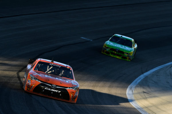 6-7 November, 2015, Fort Worth, Texas USA Daniel Suarez, Arris Toyota Camry (18), Chris Buescher (60) ?2015, John Harrelson / LAT Photo USA
