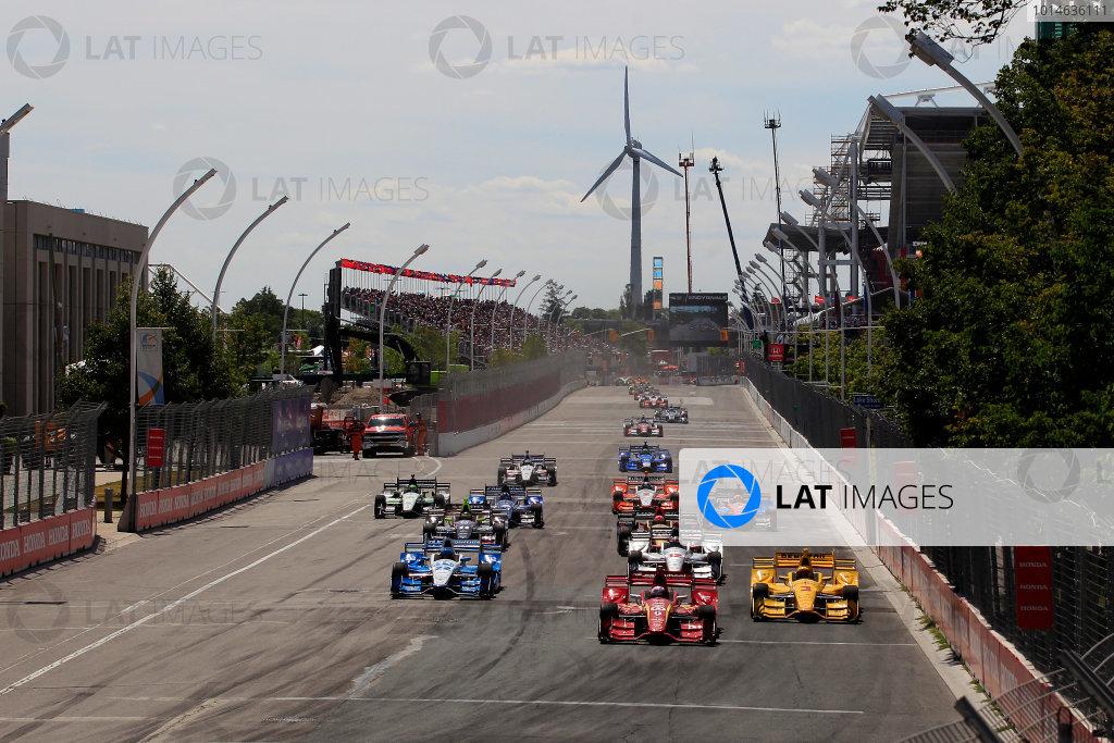 15-17 July, 2016, Toronto, Ontario, Canada Scott Dixon leads at the start ??2016, Phillip Abbott LAT Photo USA