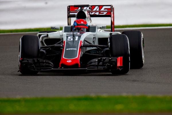 Silverstone, Northamptonshire, UK. Wednesday 13 July 2016. Santino Ferrucci, test and development driver, Haas VF-16.  World Copyright: Zak Mauger/LAT Photographic ref: Digital Image _79P1981