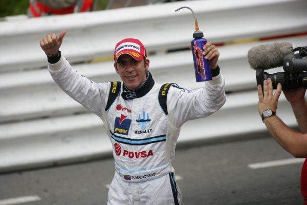 2007 GP2 Series. Round 3. Saturday Race.Monte-Carlo, Monaco. 26th May 2007.Pastor Maldonado (VEN, Trident Racing) celebrates victory. World Copyright: Andrew Ferraro/GP2 Series Media Service ref: Digital ImageZP9O1152