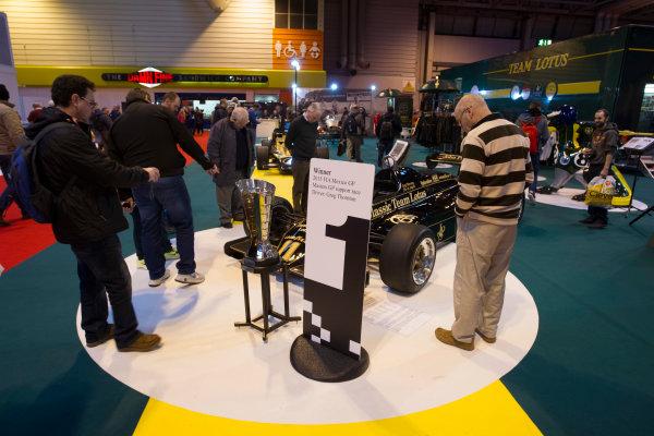 Autosport International Exhibition.  National Exhibition Centre, Birmingham, UK. Sunday 17 January 2016.  Fans at the Classic Team Lotus stand. World Copyright: Mike Hoyer/LAT Photographic. ref: Digital Image EL0G8846