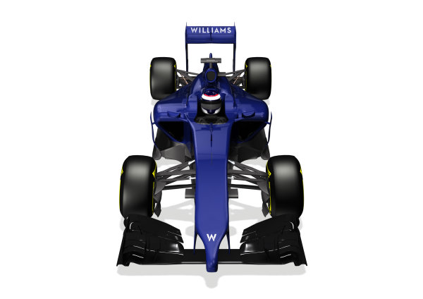Williams FW36 Online Launch Images 23 January 2014 Photo: Williams (Copyright Free FOR EDITORIAL USE ONLY) ref: Digital Image WF1_FW36_FRONT_3_4
