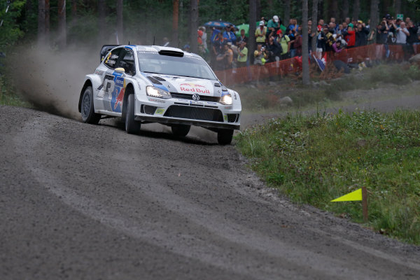 2013 FIA World Rally Championship Round 08-Rally Finland 31/7-3/8 2013. Andreas Mikkelsen, VW WRC, Action  Worldwide Copyright: McKlein/LAT