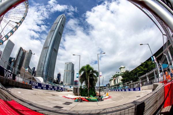 2016/2017 FIA Formula E Championship. Hong Kong ePrix, Hong Kong, China. Sunday 9 October 2016. Daniel Abt (GER), ABT Schaeffler Audi Sport, Spark-Abt Sportsline, ABT Schaeffler FE02.  Photo: Zak Mauger/LAT/Formula E ref: Digital Image _L0U1270